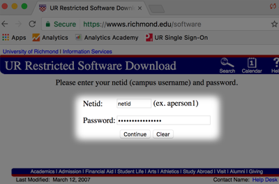 login to software download