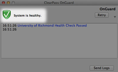 clearpass is healthy